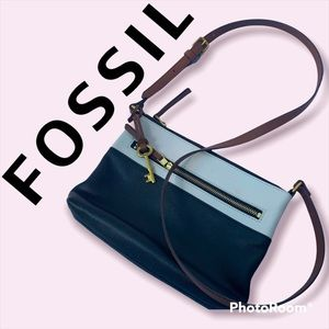FOSSIL FIONA LADIES LARGE LEATHER CROSSBODY